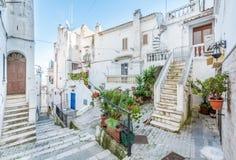 Vista cênico em Rodi Garganico, província de Foggia, Puglia Itália foto de stock royalty free