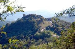 Vista cênico em ruínas antigas do castelo Fotografia de Stock Royalty Free