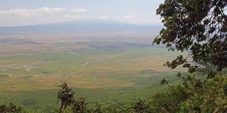 Vista cênico na área da conservação de Ngorongoro imagem de stock royalty free