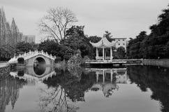 Vista calma della città universitaria Fotografie Stock