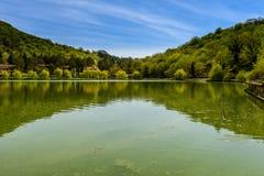 Vista calma do lago Foto de Stock