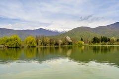Vista calma do lago Foto de Stock Royalty Free