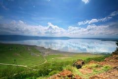 Vista calma no lago Nakuru fotografia de stock