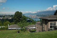 Vista capitale della collina di Vancouver B.C. Canada Immagini Stock