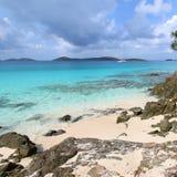 Vista caraibica dal san John immagini stock
