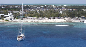Vista caraibico Fotografia Stock Libera da Diritti