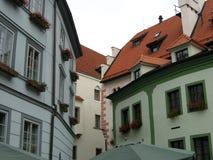 Vista ceca della città di Krumlov Fotografia Stock Libera da Diritti
