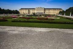Vista central del palacio de Schoenbrunn Fotos de archivo