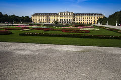 Vista centrale del palazzo di Schoenbrunn Fotografie Stock