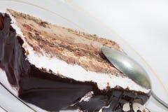Vista cercana de la torta de chocolate Foto de archivo