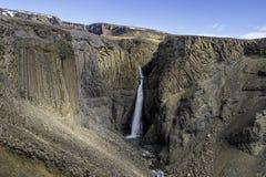 Vista cercana de Litlanesfoss Islandia Foto de archivo