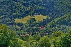 Vista cercana de los baños de Balvanyos Fotografía de archivo