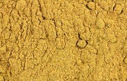 Vista cercana del polvo de curry imagen de archivo libre de regalías