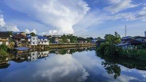 Vista Chantaburi del fiume Fotografia Stock
