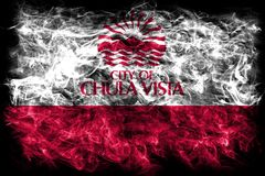 Vista Chula σημαία καπνού πόλεων, κράτος Καλιφόρνιας, Πολιτεία Στοκ εικόνες με δικαίωμα ελεύθερης χρήσης