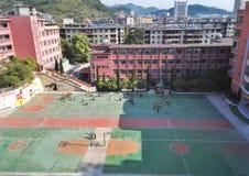 Vista cinese della scuola secondaria Immagini Stock Libere da Diritti