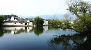 Vista cinese di Villiage di stile di Tradtional Hui Immagine Stock