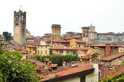 Vista a Città Vecchia Citta Alta di Bergamo Fotografia Stock Libera da Diritti