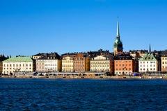 Vista clásica de Estocolmo Foto de archivo