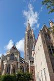 Vista clássica de Bruges imagens de stock