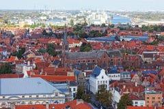 Vista clássica de Bruges. fotografia de stock royalty free