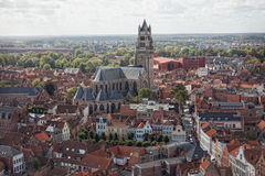 Vista clássica de Bruges foto de stock royalty free