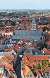 Vista clássica de Bruges. imagens de stock
