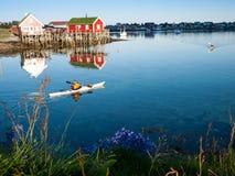 Vista classica della Norvegia Fotografia Stock