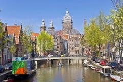 Vista classica di Amsterdam Fotografie Stock Libere da Diritti