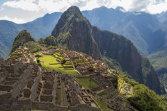 Vista classica di Machu Picchu sopra Immagini Stock
