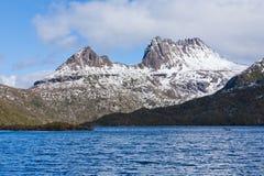 Vista cénico da montanha do berço, Tasmânia Foto de Stock Royalty Free