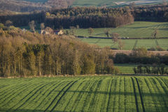 Vista cênico - vales de Yorkshire - Inglaterra Foto de Stock