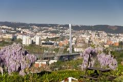 Vista Coimbra Portogallo Fotografia Stock