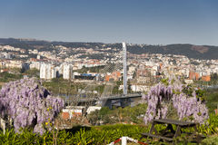 Vista Coimbra Portugal Fotografia de Stock