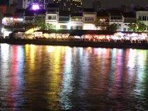Vista colorida del río Fotografía de archivo
