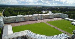 Vista com parte superior do zangão no salão do palácio do ` s de Katherine em Tsarskoe Selo Pushkin, Rússia vídeos de arquivo