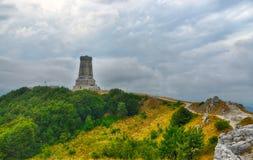 Vista commemorativa di Shipka in Bulgaria immagine stock