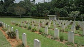 Vista commemorativa storica WW2 alla Malesia stock footage