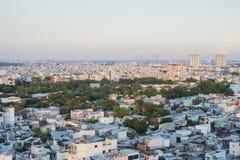 Vista completa del distrito 5 en la ciudad de Ho Chi Minh, Vietnam Imagen de archivo
