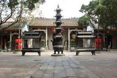 Vista con Lin Fung Temple (tempio di Lotus) a Macao immagini stock