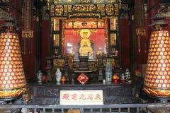 Vista con Lin Fung Temple (tempio di Lotus) a Macao fotografia stock