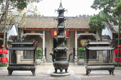 Vista con Lin Fung Temple (tempio di Lotus) a Macao Fotografie Stock