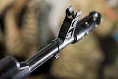 Vista con vista a la máquina de las armas de fuego Fotos de archivo