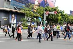 Vista concentrare della via di Taipeh Immagini Stock