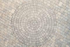 Vista concentrare della vista sopraelevata di progettazione del cerchio del patio Fotografie Stock