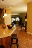 Vista contemporanea della cucina Fotografia Stock
