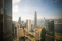 Vista corporativa della città fotografie stock