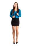 Vista corrente del frontale della donna di affari immagini stock libere da diritti