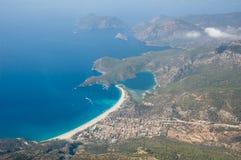 Vista costiera aerea Immagini Stock