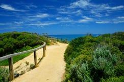 Vista costiera da capo Otway Lighthoue Fotografie Stock